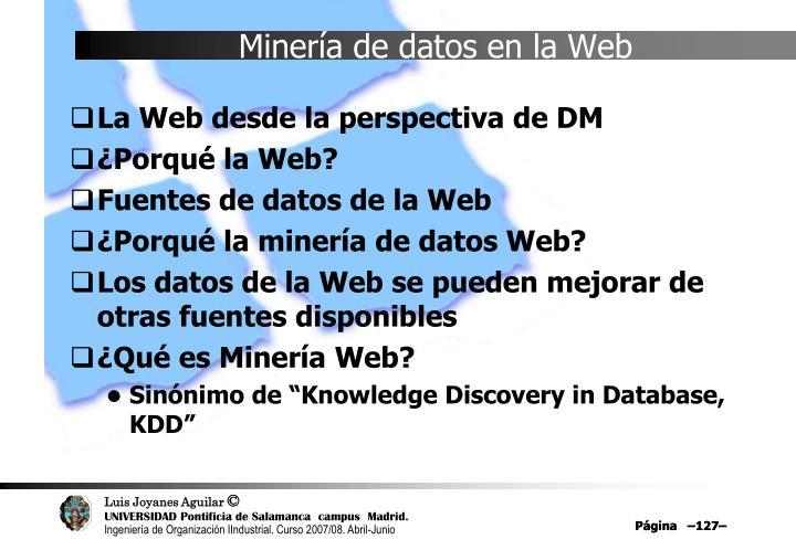 Minería de datos en la Web