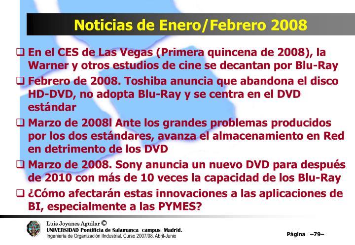 Noticias de Enero/Febrero 2008