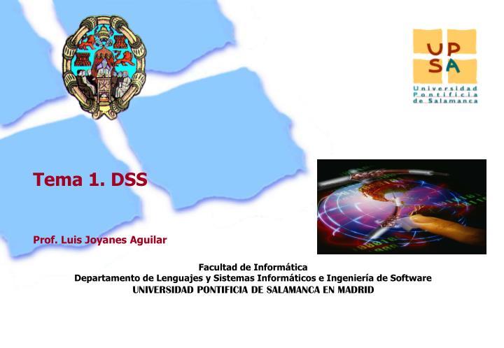 Tema 1. DSS