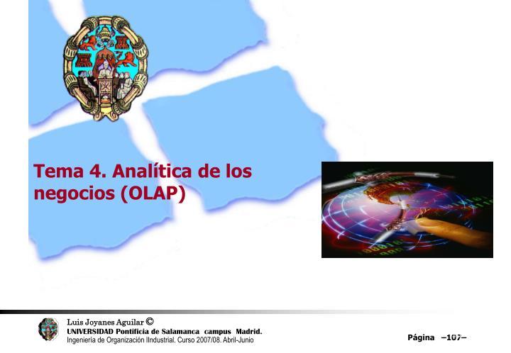 Tema 4. Analítica de los negocios (OLAP)