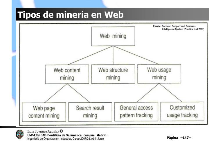 Tipos de minería en Web
