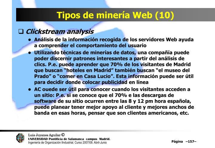 Tipos de minería Web (10)
