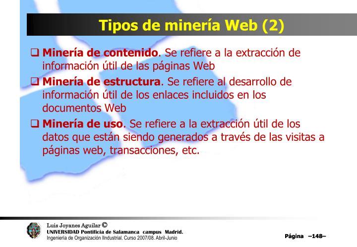 Tipos de minería Web (2)