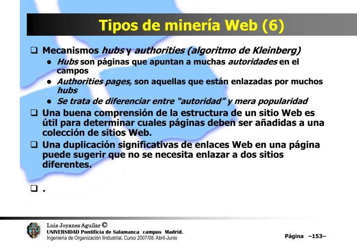 Tipos de minería Web (6)