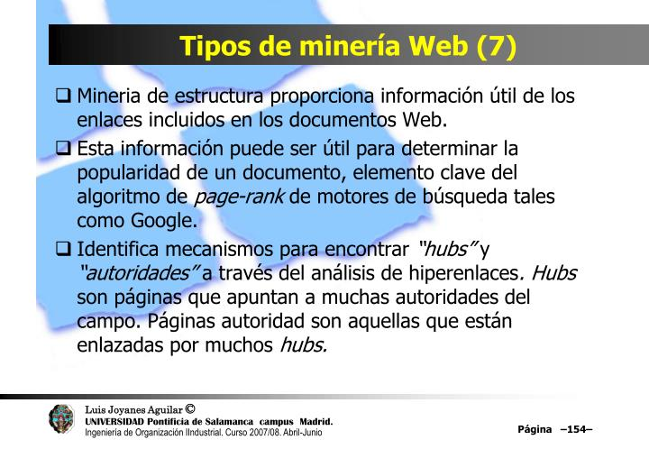 Tipos de minería Web (7)