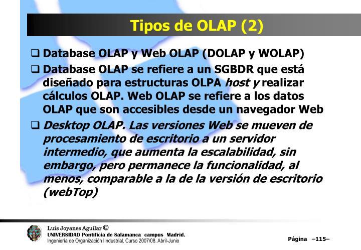Tipos de OLAP (2)