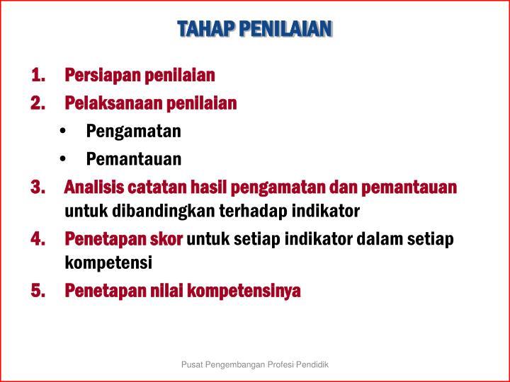 TAHAP PENILAIAN