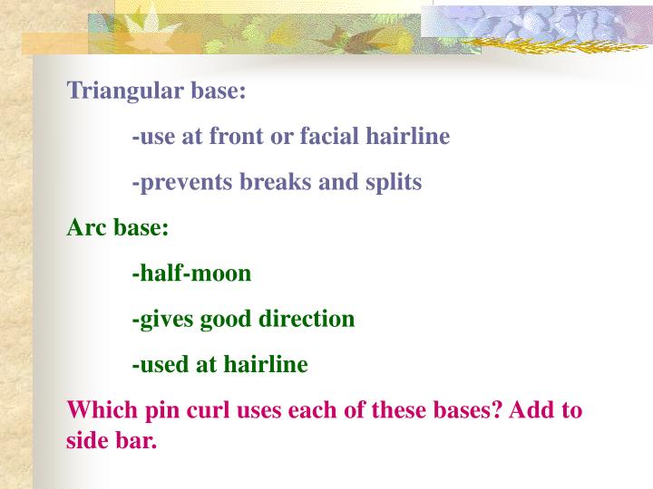 Triangular base: