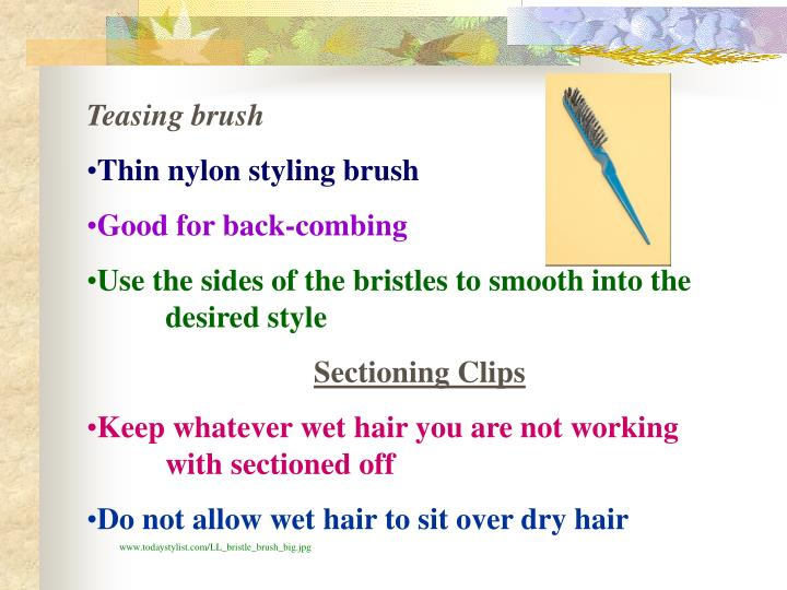 Teasing brush