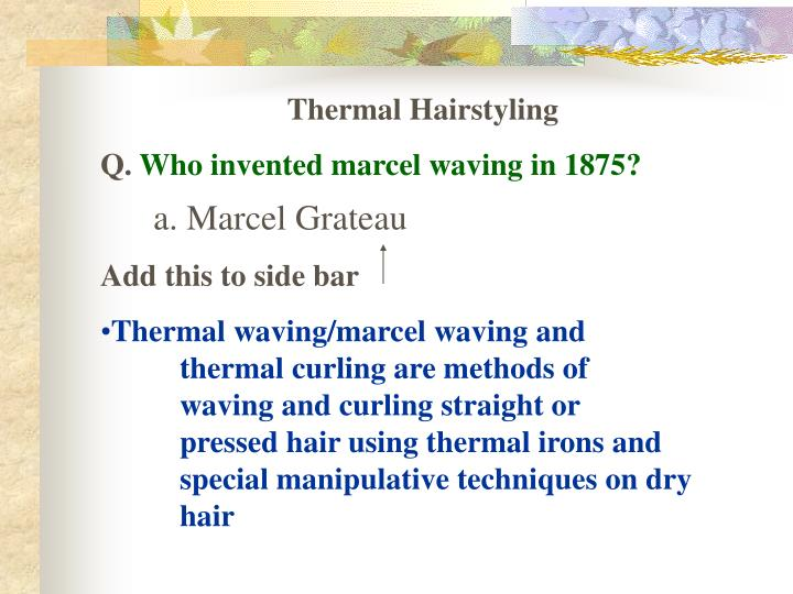 Thermal Hairstyling
