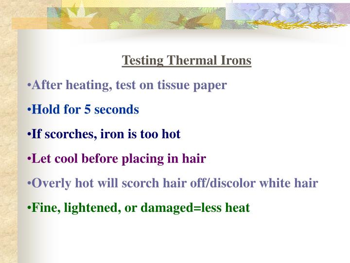 Testing Thermal Irons