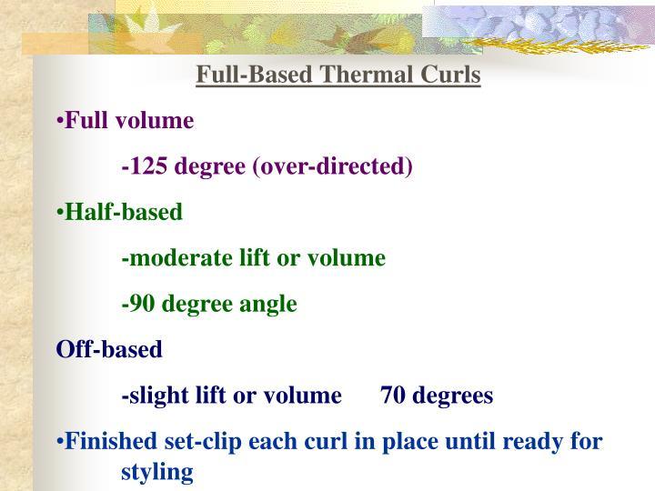 Full-Based Thermal Curls