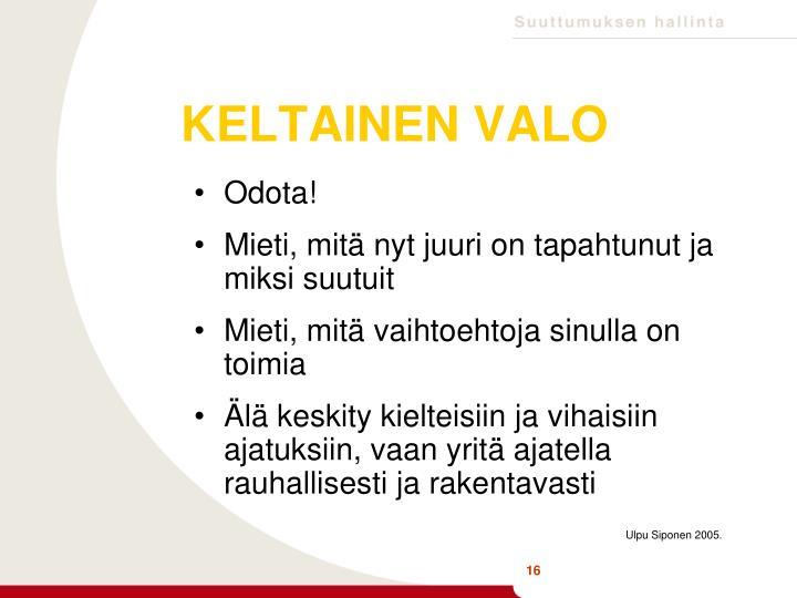 KELTAINEN VALO