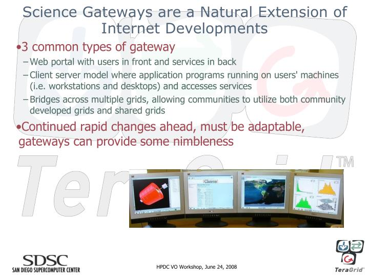 Science Gateways are a Natural Extension of Internet Developments