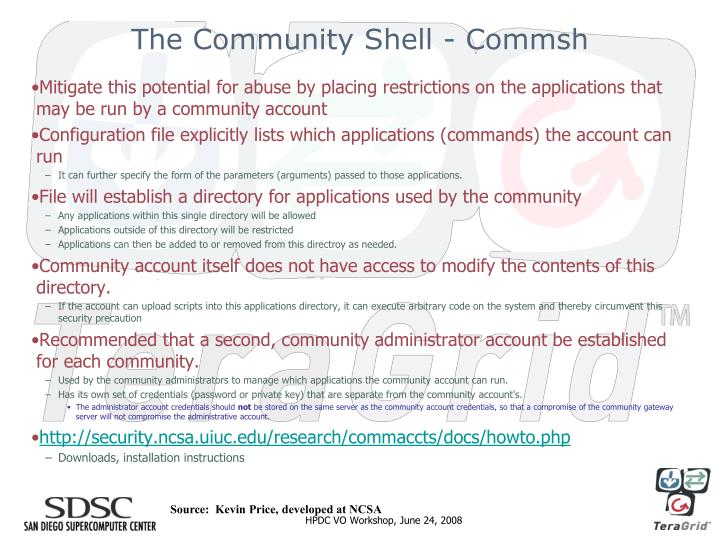 The Community Shell - Commsh