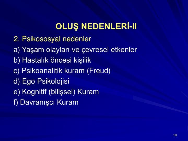 OLUŞ NEDENLERİ-II