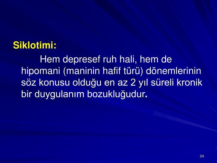 Siklotimi: