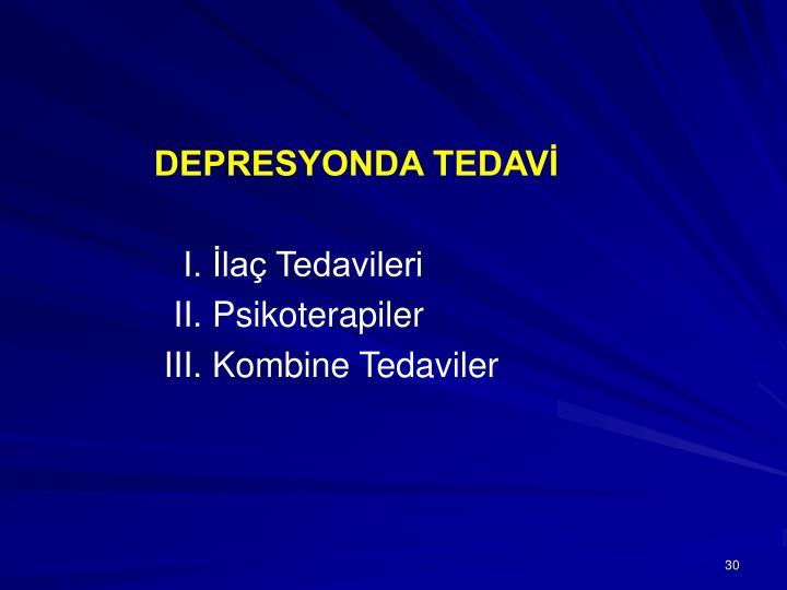DEPRESYONDA TEDAVİ