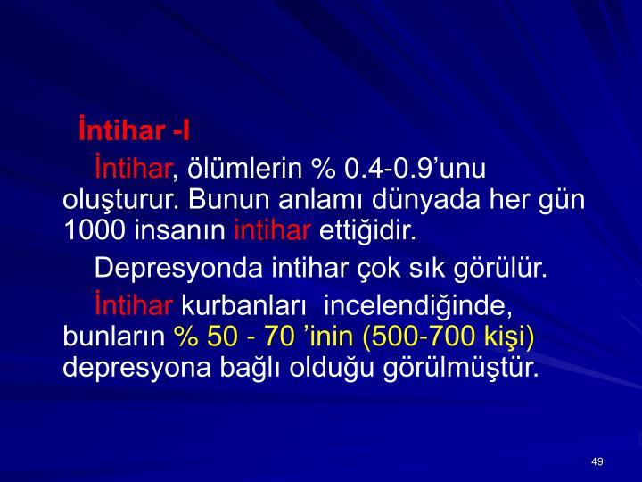 İntihar -I