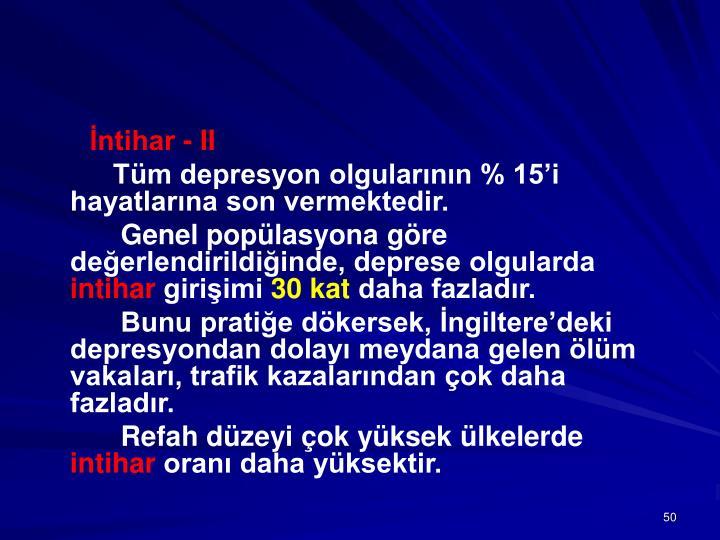 İntihar - II