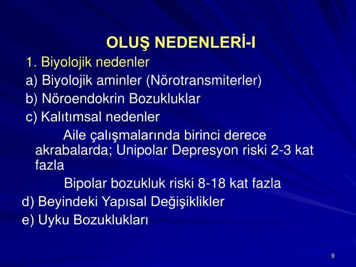 OLUŞ NEDENLERİ-I