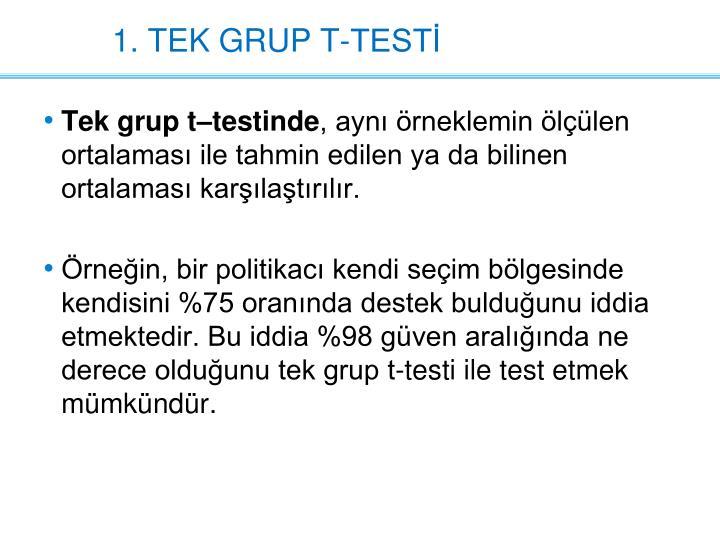 1. TEK GRUP
