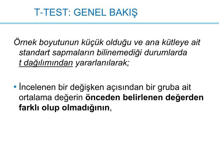 T-TEST: GENEL BAKIŞ