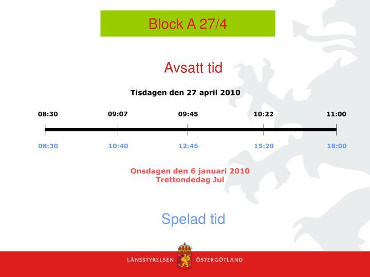 Block A 27/4