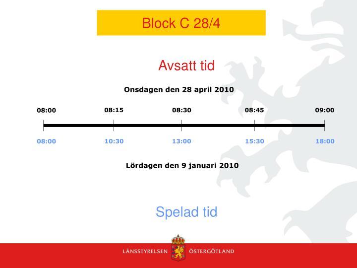 Block C 28/4
