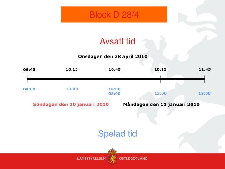Block D 28/4