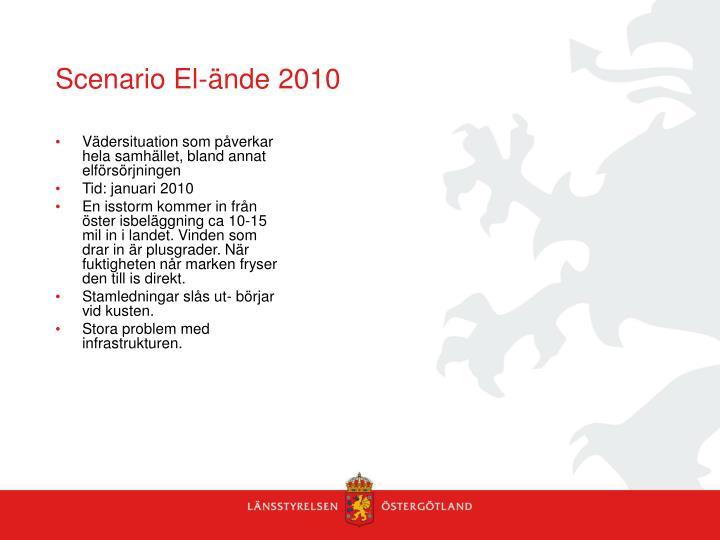 Scenario El-ände 2010
