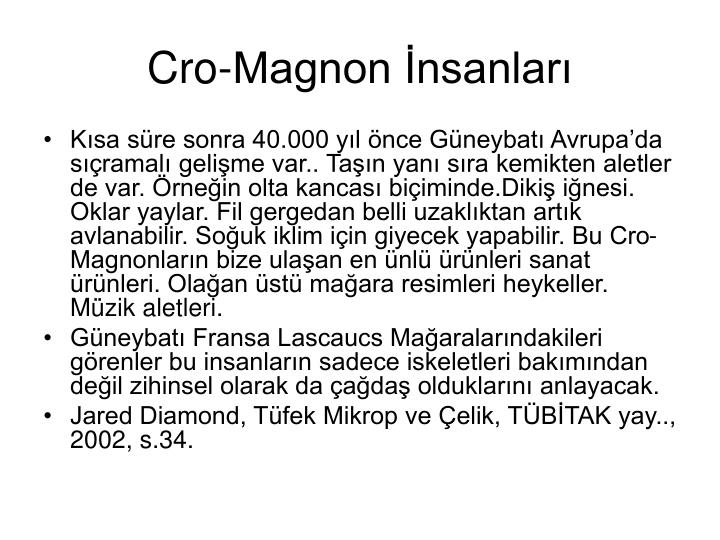 Cro-Magnon İnsanları