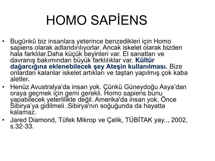 HOMO SAPİENS