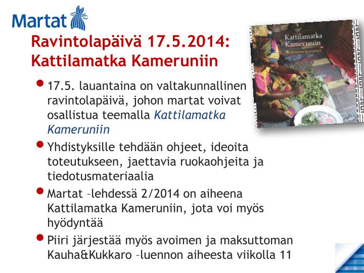 Ravintolapäivä 17.5.2014: