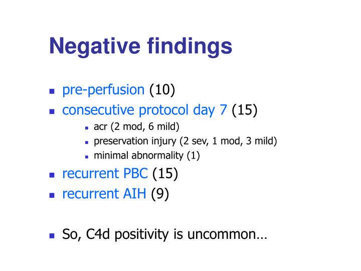 Negative findings