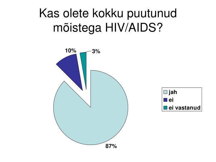 Kas olete kokku puutunud mõistega HIV/AIDS?
