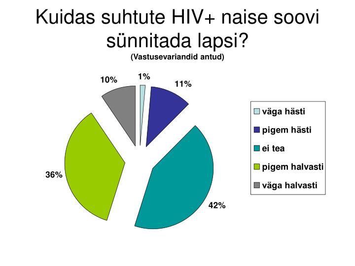 Kuidas suhtute HIV+ naise soovi sünnitada lapsi?