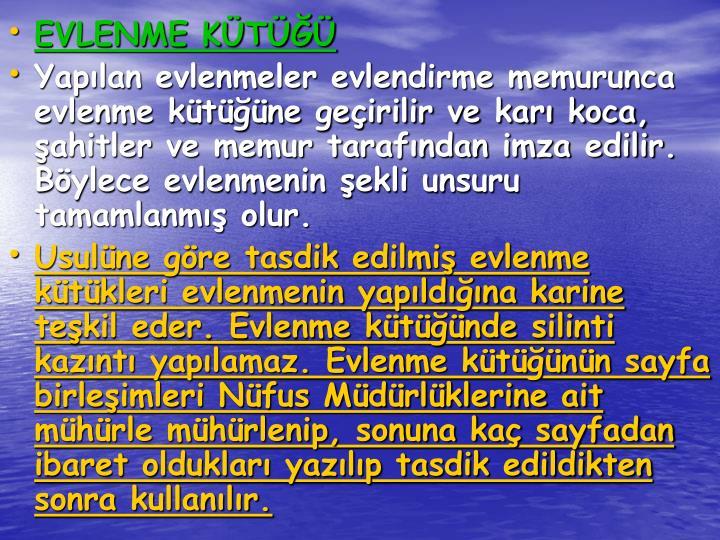 EVLENME KT
