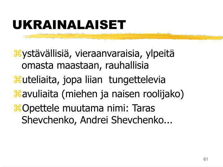 UKRAINALAISET
