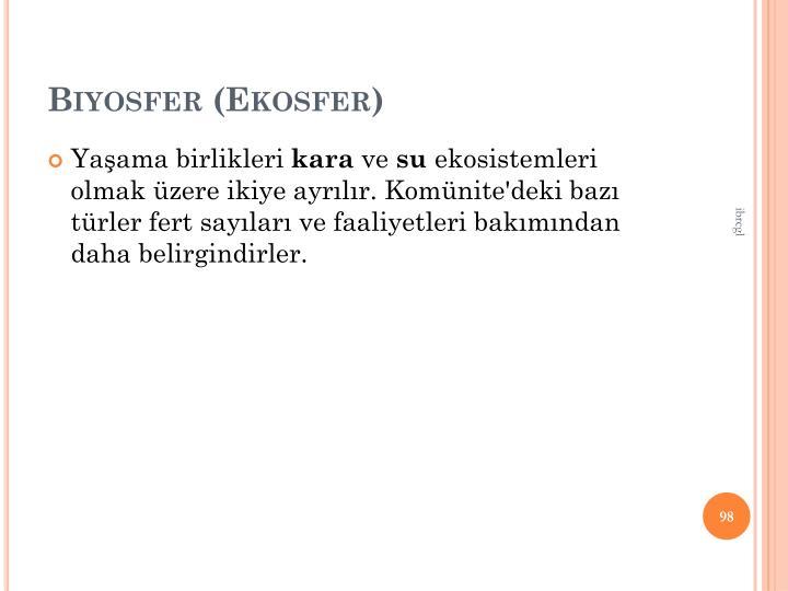 Biyosfer (Ekosfer)