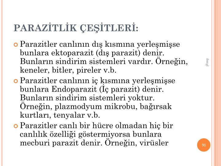 PARAZTLK ETLER:
