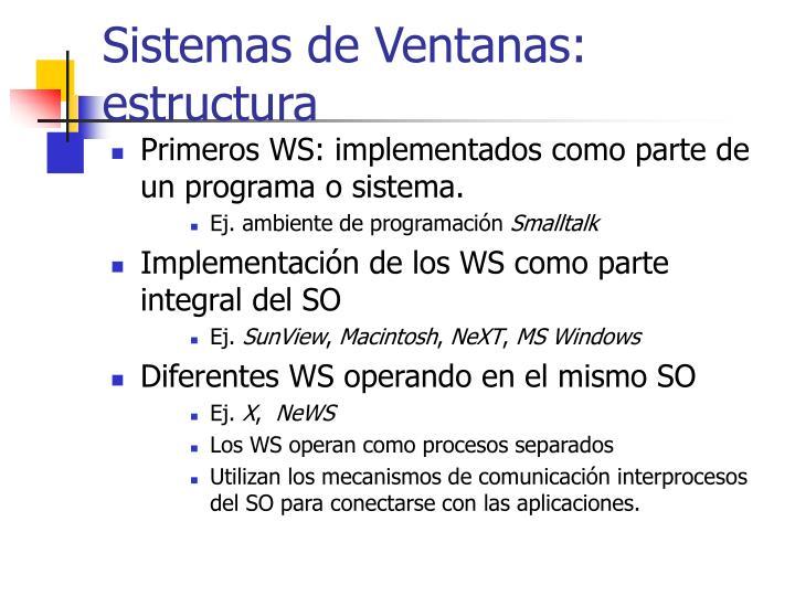 Sistemas de Ventanas: estructura