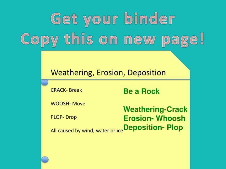 Get your binder