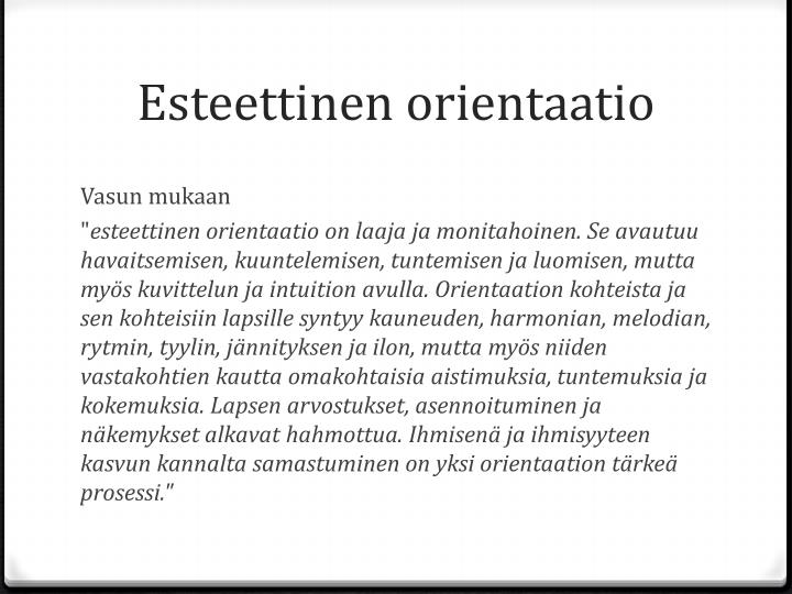 Esteettinen orientaatio