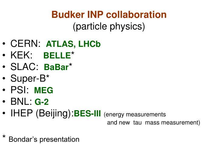 Budker INP collaboration