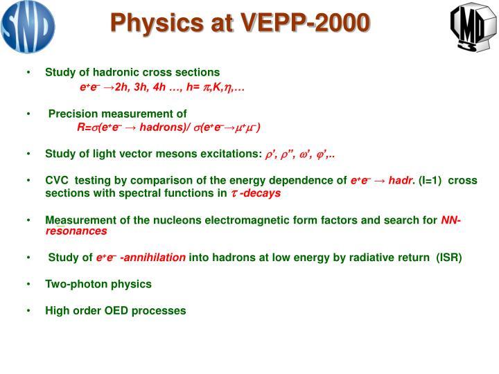 Physics at VEPP-2000