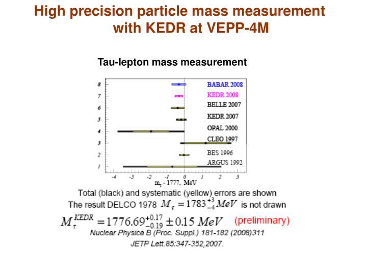 High precision particle mass measurement