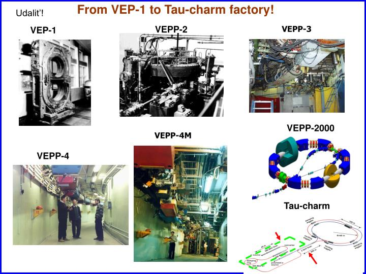 From VEP-1 to Tau-charm factory!