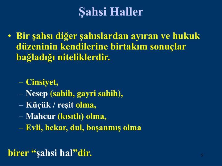 Şahsi Haller
