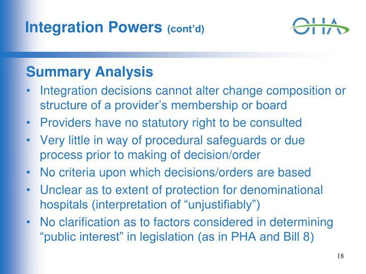 Integration Powers